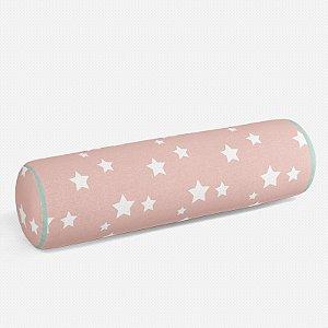 Rolo peseira Rosa Quartzo com Estrelas