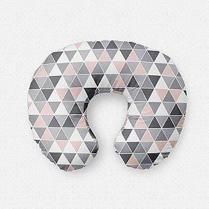 Almofada de amamentação Tri cinza e quartzo