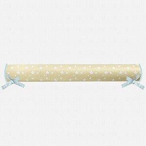 Rolo lateral para cama montessoriana Amarelo bebê com Estrelas