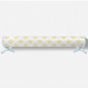 Rolo lateral para cama montessoriana Bolas Amarelo bebê