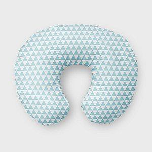 Almofada de amamentação Triângulos Azul Bebê