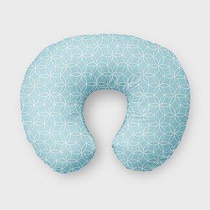 Almofada de amamentação Lotus Azul Bebê
