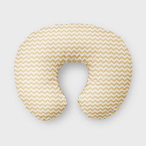 Almofada de amamentação Chevron Amarelo Bebê