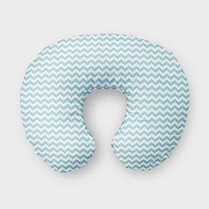 Almofada de amamentação Chevron Azul Bebê