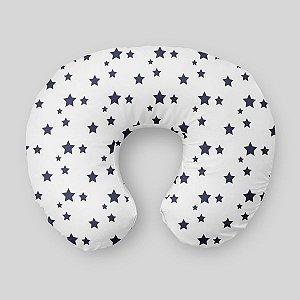 Almofada de amamentação Estrelas Azul Marinho