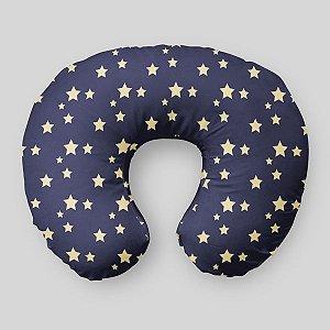 Almofada de amamentação Azul Marinho com Estrelas 2
