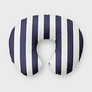 Almofada de amamentação Listras Azul Marinho