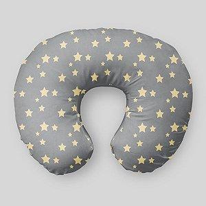 Almofada de amamentação Cinza com Estrelas 2