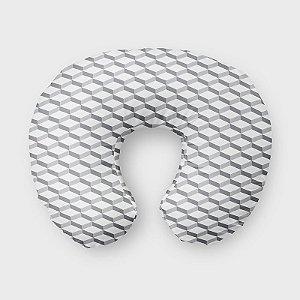 Almofada de amamentação 3D 2 Cinza