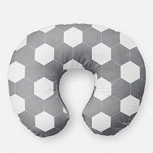 Almofada de amamentação bola de Futebol cinza
