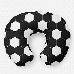 Almofada de amamentação bola de Futebol preta