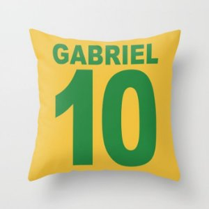 Capa de almofada Camisa 10 Brasil personalizada