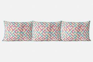 Kit almofadões para cama Candy Circles