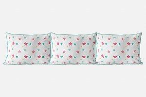 Kit almofadões para cama Candy Stars