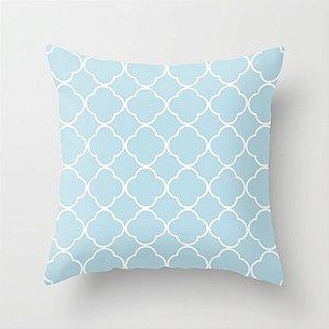 Capa de almofada Quatrefoil Azul Bebê 40x40 ~ OUTLET