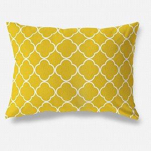 Capa de almofada Quatrefoil Amarelo 50x35 ~ Bazar!