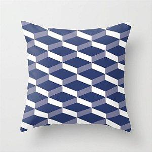 Capa de almofada 3D Azul Marinho
