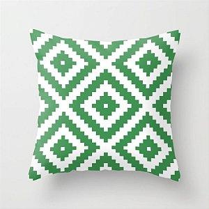 Capa de almofada Aztec Verde