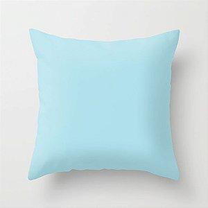 Capa de almofada Lisa Azul Bebê
