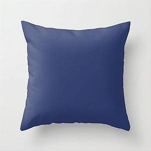 Capa de almofada Lisa Azul Marinho