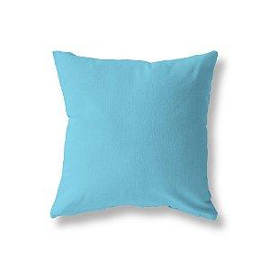 Capa de almofada Lisa Azul Turquesa