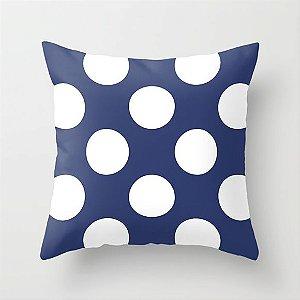 Capa de almofada Azul Marinho com Bolas