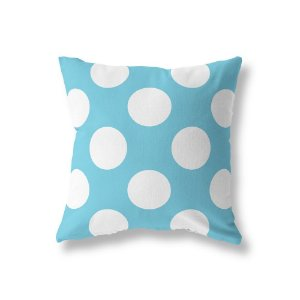 Capa de almofada Azul Turquesa com Bolas