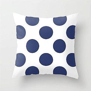 Capa de almofada Bolas Azul Marinho