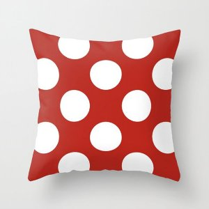 Capa de almofada Vermelha com Bolas