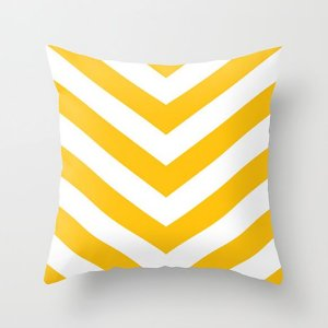 Capa de almofada V Amarelo