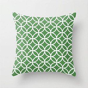 Capa de almofada Circles Verde