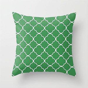 Capa de almofada Quatrefoil Verde