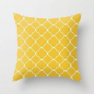 Capa de almofada Quatrefoil Amarelo