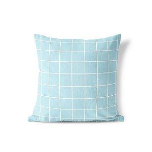 Capa de almofada Quadrados Azul bebê