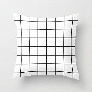 Capa de almofada Quadrados Branca