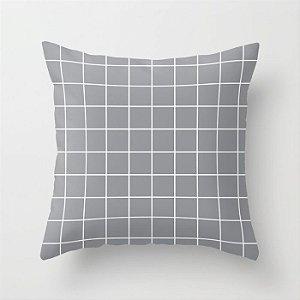Capa de almofada Quadrados Cinza