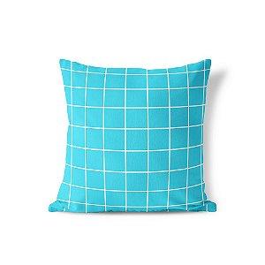 Capa de almofada Quadrados Azul Turquesa