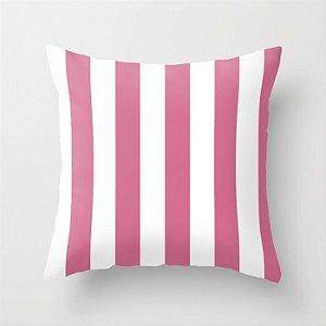 Capa de almofada Listras Rosa chiclete