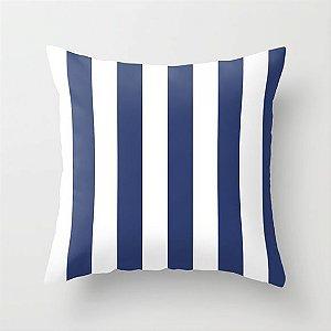 Capa de almofada Listras Azul marinho