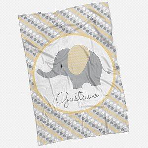 Manta carrinho Elefantinho Amarela