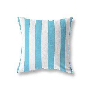 Capa de almofada Listras Azul Turquesa