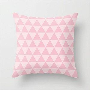 Capa de almofada Triângulos 2 Rosa bebê