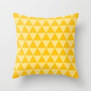 Capa de almofada Triângulos 2 Amarelo