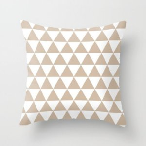Capa de almofada Triângulos Bege