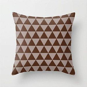 Capa de almofada Triângulos 2 Marrom