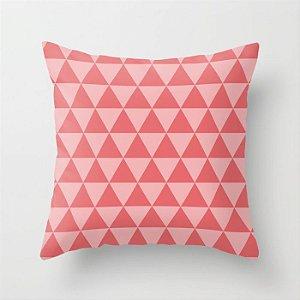 Capa de almofada Triângulos 2 Coral