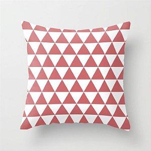 Capa de almofada Triângulos Coral