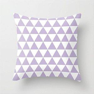 Capa de almofada Triângulos Lilás