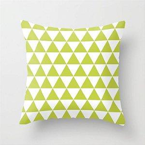 Capa de almofada Triângulos Lima