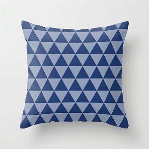 Capa de almofada Triângulos 2 Azul marinho